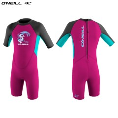 ONeill wetsuits Toddler REACTOR II 2mm Back Zip S/S Spring - Girls Neoprén Gyerek